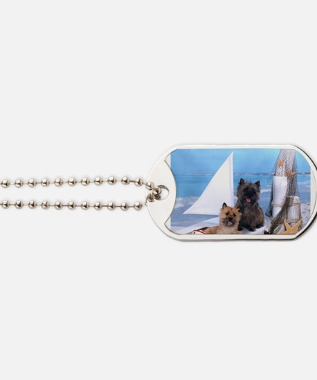Cairn Terrier Boat Boys Dog Tags