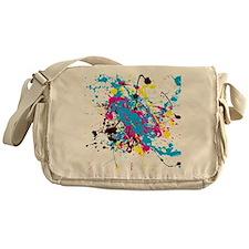CMYK Splatter Messenger Bag