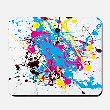 CMYK Splatter Mousepad