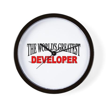 """The World's Greatest Developer"" Wall Clock"