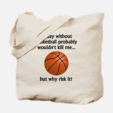 A Day Without Basketball Tote Bag