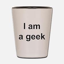 I Am A Geek Shot Glass