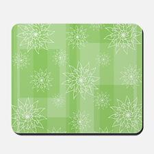 Oriental inspired pastel floral pattern Mousepad