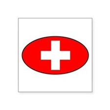 Swiss / Switzerland (CH) Oval Sticker
