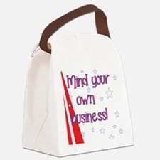 mind your own  Canvas Lunch Bag