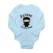 Cute Ninja Long Sleeve Infant Bodysuit