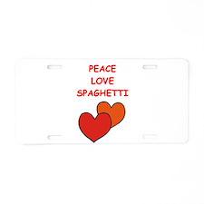 spaghetti Aluminum License Plate
