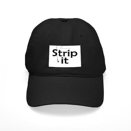 Strip It Black Cap