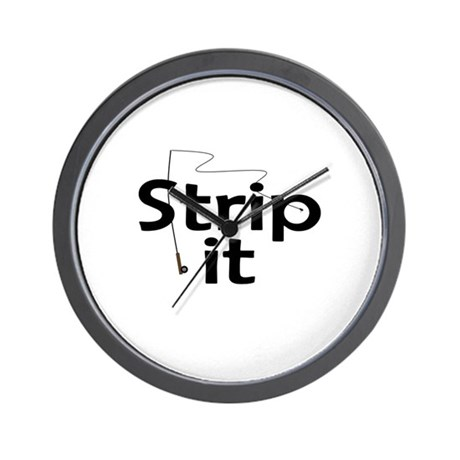 Strip It Wall Clock