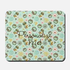 Whimsical Owl Pattern Mousepad