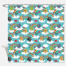 Monster Rainbow Shower Curtain