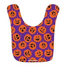 Halloween Pumpkin Pattern Purple Bib