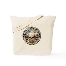 USN Navy Eagle Skull Tote Bag