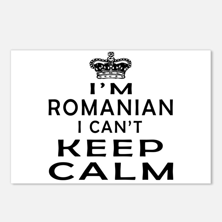 I Am Romanian I Can Not Keep Calm Postcards (Packa