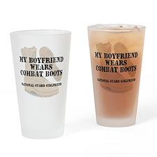 National Guard Girlfriend wears DCB Drinking Glass