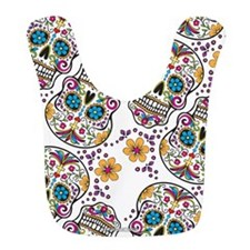 SugarSkull Halloween White Bib