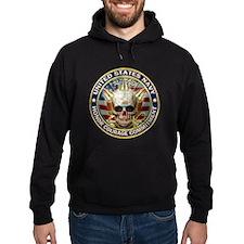USN Navy Eagle Skull Hoodie