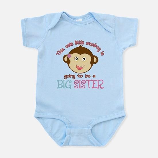 Cute Monkey Big Sister Infant Bodysuit