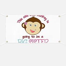 Cute Monkey Big Sister Banner