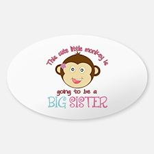 Cute Monkey Big Sister Decal
