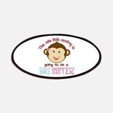 Cute Monkey Big Sister Patches
