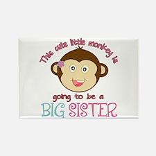 Cute Monkey Big Sister Rectangle Magnet