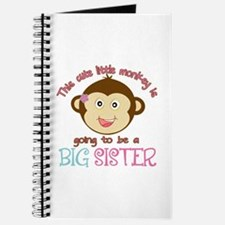 Cute Monkey Big Sister Journal