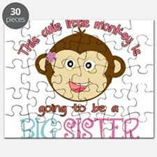 Cute Monkey Big Sister Puzzle