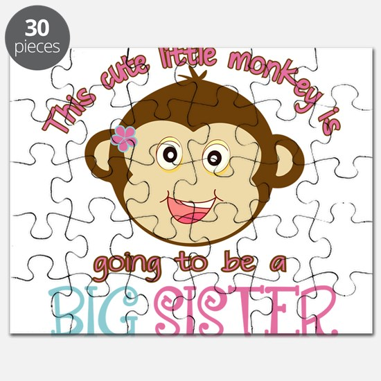 Cute Monkey Big Sister Puzzle