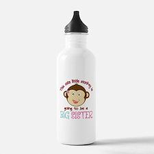 Cute Monkey Big Sister Water Bottle