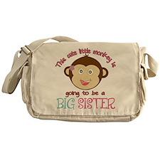 Cute Monkey Big Sister Messenger Bag