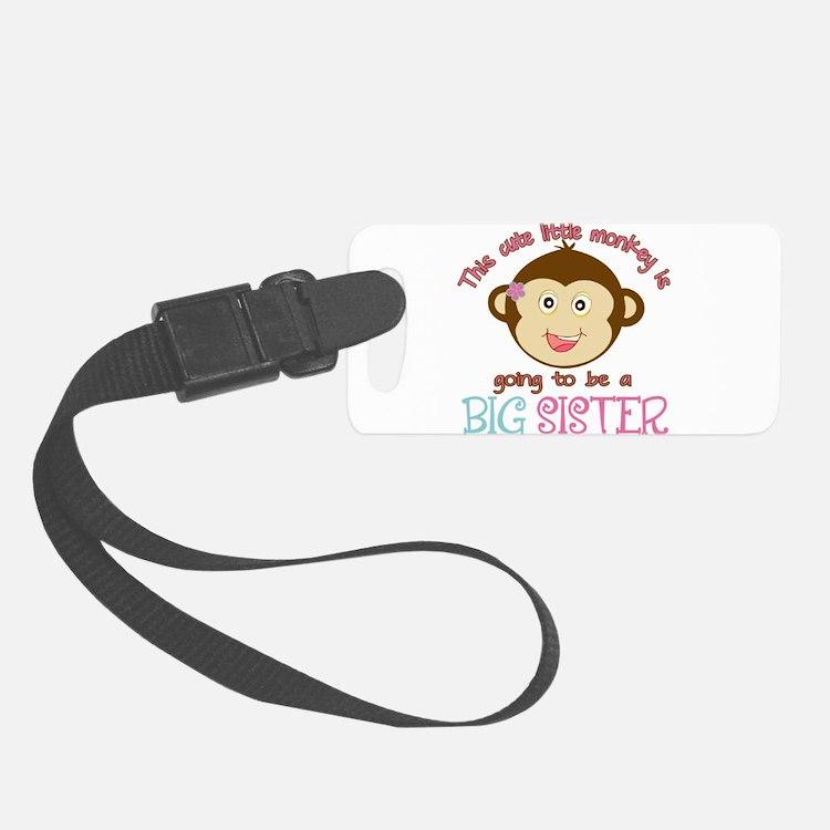 Cute Monkey Big Sister Luggage Tag