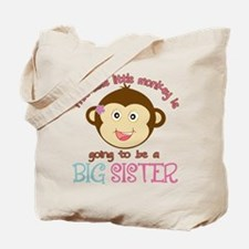 Cute Monkey Big Sister Tote Bag
