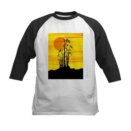 Artistic view of bamboo on a red sunset Baseball J