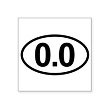 0.0 Zero Marathon Runner Sticker