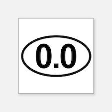 0.0 Zero Marathon Runner Sticker