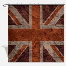 Rock Wall Union Jack Shower Curtain