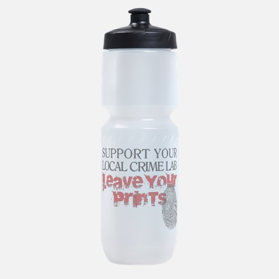 Crime Lab - Leave Your Prints Sports Bottle