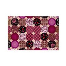 PATCHWORK PASSION Rectangle Magnet