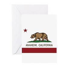 california flag anaheim Greeting Cards