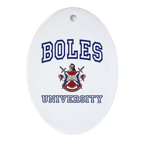 BOLES University Oval Ornament