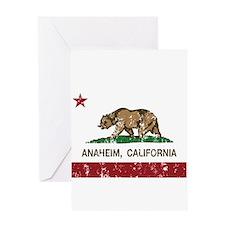 california flag anaheim distressed Greeting Cards