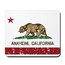 california flag anaheim distressed Mousepad