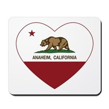 california flag anaheim heart Mousepad