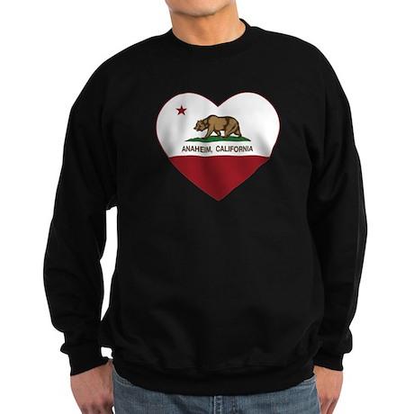 california flag anaheim heart Sweatshirt