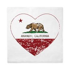 california flag anaheim heart distressed Queen Duv