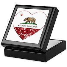 california flag anaheim heart distressed Keepsake