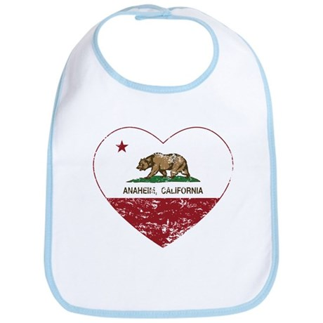 california flag anaheim heart distressed Bib