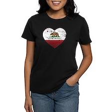california flag anaheim heart distressed T-Shirt