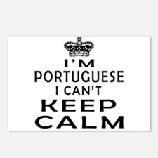 I Am Portuguese I Can Not Keep Calm Postcards (Pac